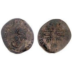 """1696-""""9"""" [Rennes Mint] Recoined Sol de 15 Deniers, Gadoury 93."""