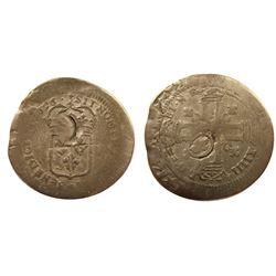 1696-E? [Unknown Mint, possibly Tours] Recoined Sol de 15 Deniers, Gadoury 92.