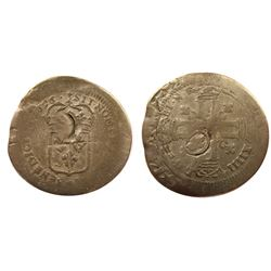 1696-E? [Unknown Mint, possibly Tours] Recoined Sol de 15 Deniers, Gadoury 92.