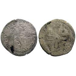 1697-E [Tours Mint] Recoined Sol de 15 Deniers, Gadoury 93.