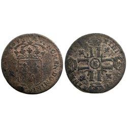 1698-B [Rouen Mint] Sol de 15 Deniers, Gadoury 91.