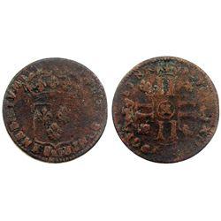 1698-X [Amiens Mint] Sol de 15 Deniers, Gadoury 91.