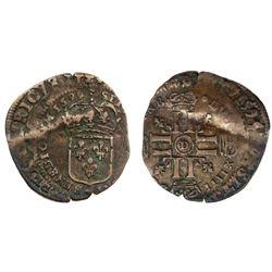 1699-D [Lyon Mint] Recoined Sol de 15 Deniers, Gadoury 91