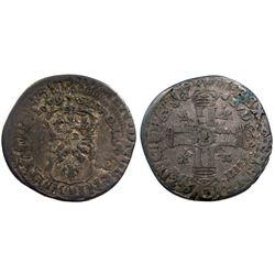 1699-E [Tours Mint] Sol de 15 Deniers, Gadoury 91.