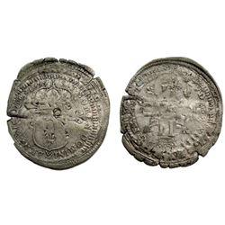1699-P [Dijon Mint] Recoined Sol de 15 Deniers, Gadoury 91.