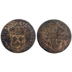 1700-Crowned L [Lille Mint] Sol de 15 Deniers, Gadoury 91.