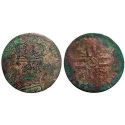 1690's-A [Paris Mint] Sol de 15 Deniers, Gadoury 91.