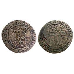 1690's-H [La Rochelle Mint] Recoined Sol de 15 Deniers, Gadoury 92.
