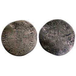 Unknown Date and Mint Recoined Sol de 15 Deniers, Gadoury 92.