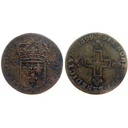 1699-BB Sol of 16 Deniers.