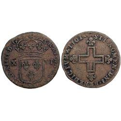 1701-BB Sol of 16 Deniers.