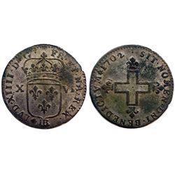 1702-BB Sol of 16 Deniers.