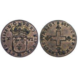 1703-BB Sol of 16 Deniers.