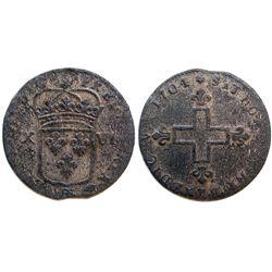 1704-BB Sol of 16 Deniers.