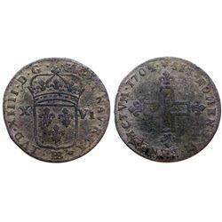 1704/3-BB Sol of 16 Deniers.
