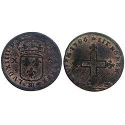 1706-BB Sol of 16 Deniers.