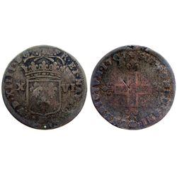 1707-BB Sol of 16 Deniers.