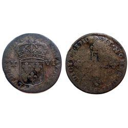 1710-BB Sol of 16 Deniers.