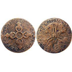 1710-H [La Rochelle Mint] Six Deniers of Dardennes, Gadoury 85.
