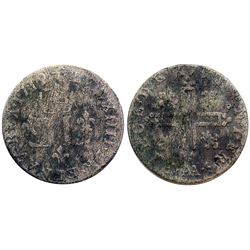1712-AA [Metz Mint] Billon 15 Deniers.  Vlack 13, Gadoury 95.
