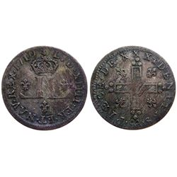 1710-AA [Metz Mint] Billon 30 Deniers.  Vlack 8, Gadoury 102.