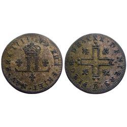1711-D [Lyon Mint] Billon 30 Deniers.  Vlack 3, Gadoury 102.