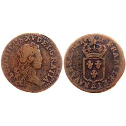 1720-CC [Besancon Mint] John Law Liard.
