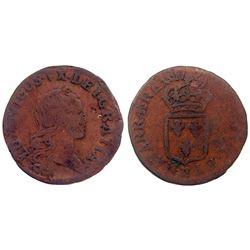 1721-CC [Besancon Mint] John Law Liard.