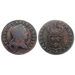 1719-AA [Metz Mint] John Law Half Sol, Gadoury 273