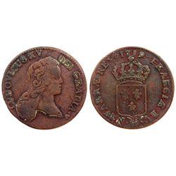 1719-BB [Strasbourg Mint] John Law Half Sol.