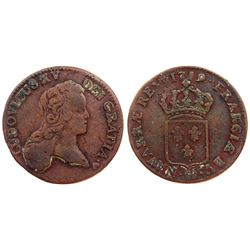 1719-BB [Strasbourg Mint] John Law Half Sol.