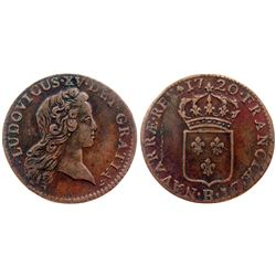 1720-B [Rouen Mint] John Law Half Sol.