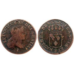 1720-S [Reims Mint] John Law Half Sol