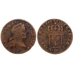 1720-BB [Strasbourg Mint] John Law Half Sol.