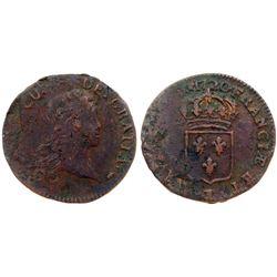 1720-CC [Besancon Mint] John Law Half Sol