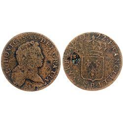 1722-B [Rouen Mint] John Law Half Sol.