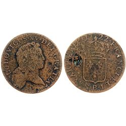 1722-B [Rouen Mint] John Law Half Sol.