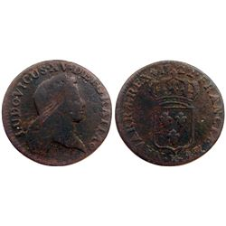 1722-K [Bordeaux Mint] John Law Half Sol.