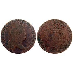 1723-B [Rouen Mint] John Law Half Sol.