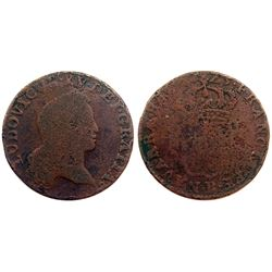 1723-B [Rouen Mint] John Law Half Sol.