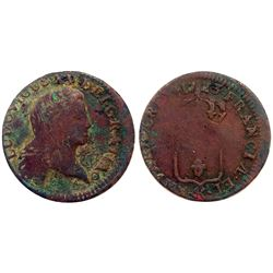 1723-K [Bordeaux Mint] John Law Half Sol.