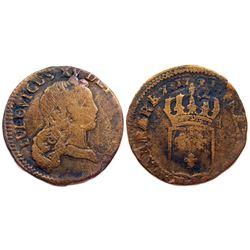 1723-Q [Perpignan Mint] John Law Half Sol.