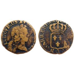 1724-Q [Perpignan Mint] John Law Half Sol.