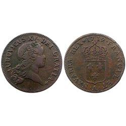 1719-A [Paris Mint] John Law Sol, Gadoury 276.