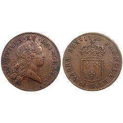 1719-B [Rouen Mint] John Law Sol.