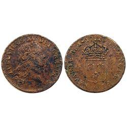 1720-A [Paris Mint] John Law Sol, Possible 1720/19 Overdate