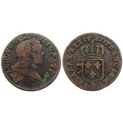 1722-H [La Rochelle Mint] John Law Sol.