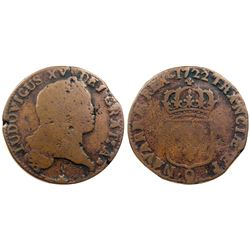 1722-Q [Perpignan Mint] John Law Sol.