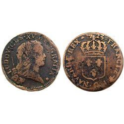 1723-Q [Perpignan Mint] John Law Sol.