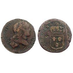1724-Q [Perpignan Mint] John Law Sol.